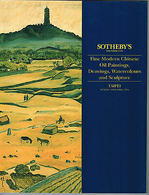 Sotheby's Fine Modern Chinese Oil Paintings Drawings Watercolors Sculpture 1994