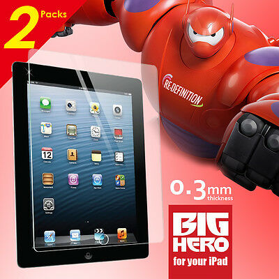 2 Packs Tempered Glass Screen Protector for Apple new iPad 2 3 4