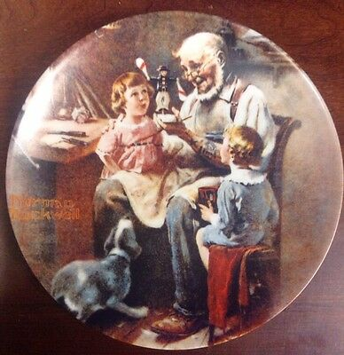 "Vintage Norman Rockwell Plate Knowles ""The Toy Maker"" 8.5"" 1977"