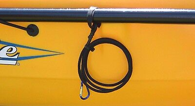 "Kayak Paddle Leash 42""  Fishing Accessories Handmade in USA Marine Grade Cord"