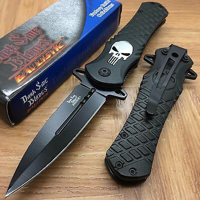 Dark Side Blades Black Punisher Fantasy Tactical Folding Rescue Pocket Knife