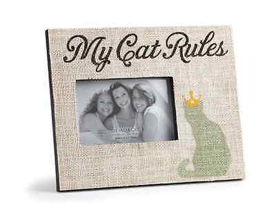 My Cat Rules Frame, Stephen Fowler, Demdaco, Holds 6.0 x 4.0 photos