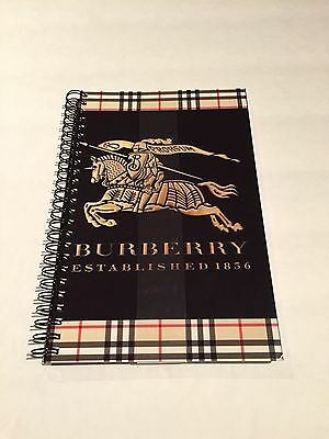 BURBERRY Custom Cover Journal Notebook Diary Brand New & Sealed