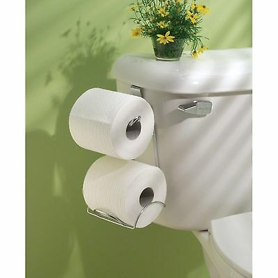 Toilet Paper Holders Storage 2 Roll Bathroom Mounted Tissue Chrome