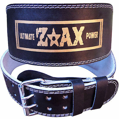 "Leather Weight Lifting Belt Body Building Gym Exercise Back Support Belt 6"" WIDE"