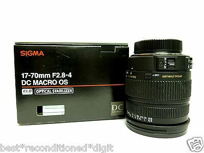 Sigma DC Macro 17-70 mm F/2.8-4 Lens for Nikon-EXCELLENT CONDITION