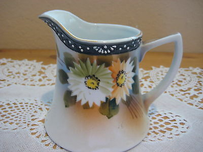 BEAUTIFUL OLD VINTAGE HAND PAINTED JAPANESE CREAMER, MADE IN JAPAN