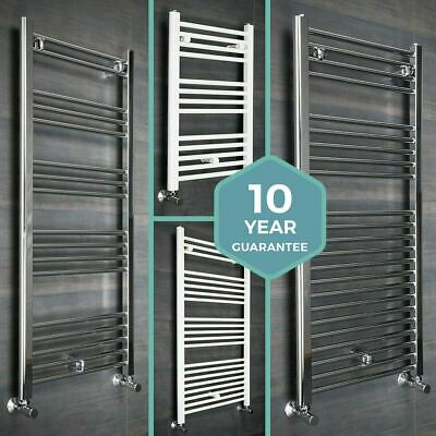 Bathroom Heated Towel Rail Radiator Straight Ladder Warmer - Chrome or White