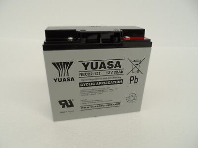 Yuasa Rec22-12 22Ah 18 Hole Battery Powakaddy Motocaddy Golf Trolley Np17 Ypc22