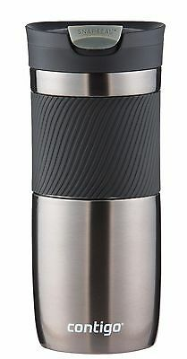 Contigo 16 oz. SNAPSEAL Byron Double-Wall Insulated Travel Mug Stainless Steel
