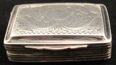 English Sterling Silver Vinaigrette 1824
