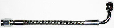 "AN-3  22"" long, stainless steel braid hose, ST X 90ø banjo 3/8""-10M  NC"