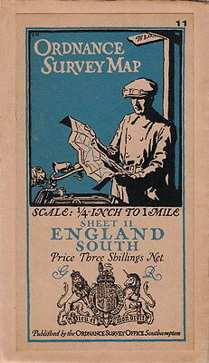 Ordnance Survey Map Of  England (South) - 1928