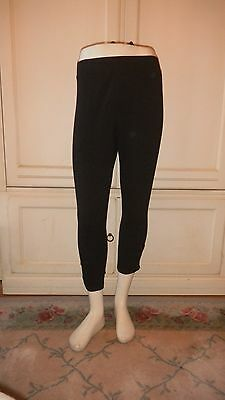 Brand New Ladies' Style & Co PLus Black Capri Stretch Leggings W/Studs on Ankle