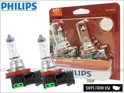 PHILIPS H11 X-treme Vision +100% more light Upgrade performance Halogen bulbs