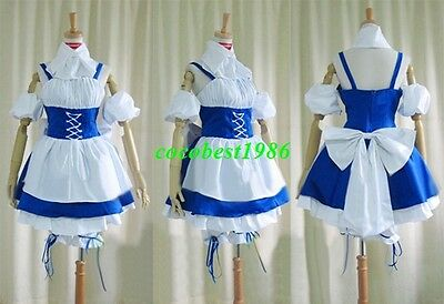 Chii Cosplay (Maid Costume) from Chobits any size dress pants apron tie cap