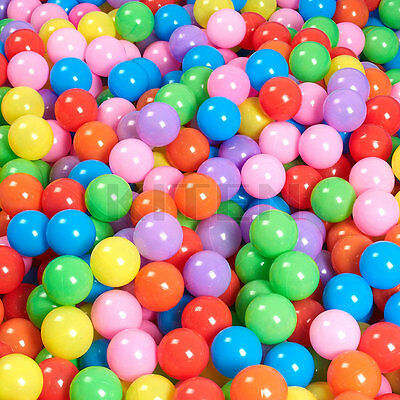 200PCS Swim Fun Colorful Soft Plastic Ocean Ball Secure Baby Kid Pit Toy