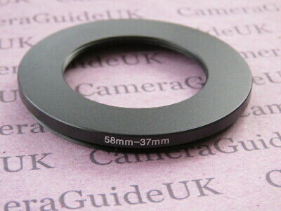 58mm to 37mm 58mm-37mm Stepping Step Down Filter Ring Adapter