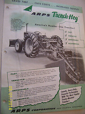 Vintage Arps Corp  Advertising Brochure -Trenchers