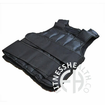 Weighted Vest 10Kg CrossFit Bodyweight Heavy Gym Training Weight Jacket bh FH