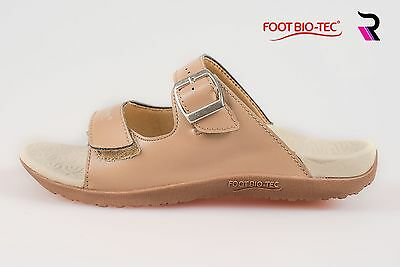 Foot Bio-Tec Womens Orthotic Shoes Sandals Arch Support Smile Series Tan