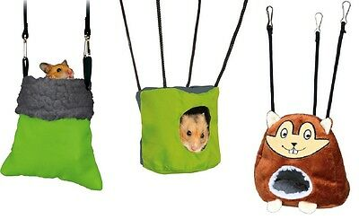 Hanging Cave Hammock for Hamster Gerbil Mouse Rodents Cage Furniture