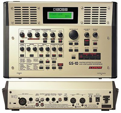 BOSS GS-10 MULTI EFFECTS SYSTEM USB AUDIO INTERFACE WITH INBUILT STEREO SPEAKERS