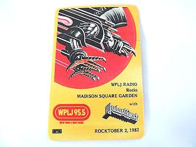 """""""Judas Priest"""" WPLJ 95.5 Concert Sticker 1982 Mint/ How Cool Is This!!!"""