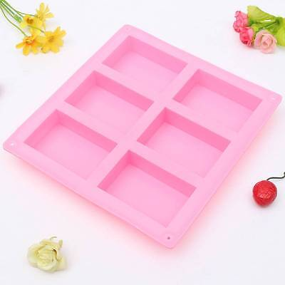 6-rectangle style Silicone Ice Candy Chocolate Cake Cookie Cupcake Soap Mold