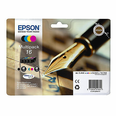 New Genuine Epson Black & Colour Cartridge Pack Workforce WF2530(C13T16264010)