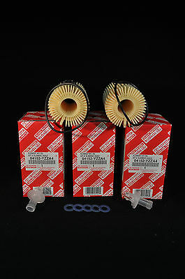 04152-YZZA4, Qty 5, Toyota Oil Filters With Drain Plug Gaskets