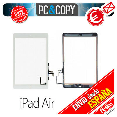 PANTALLA DIGITALIZADOR TACTIL PARA IPAD AIR BLANCA iPadAir+ADHESIVO+HOME INCLUID