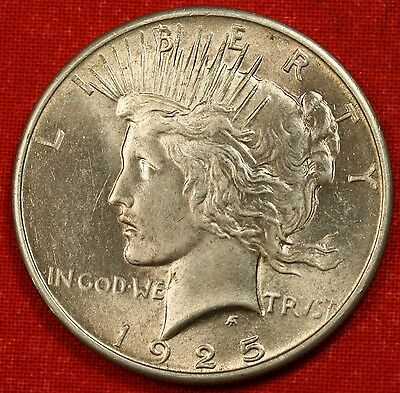 1925-P PEACE DOLLAR AU 90% SILVER COLLECTOR COIN CHECK OUT STORE L@@K *$ PE84