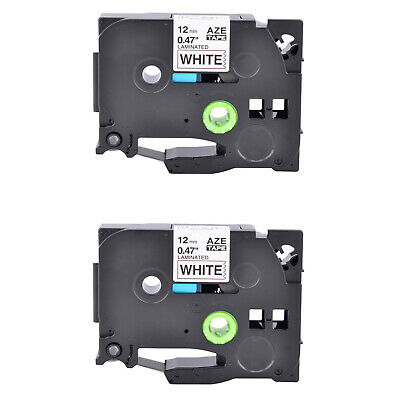 2PK Black on White Compatible For Brother TZe-231 Label Tape TZ-231 12mm PT1010