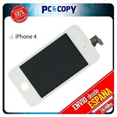 Frontal Completo Pantalla Completa LCD IPS para iPhone 4 Retina Display BLANCA