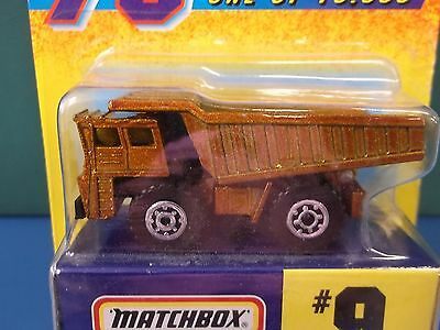 1997 Matchbox 75 Gold Challenge #9 Earth Mover