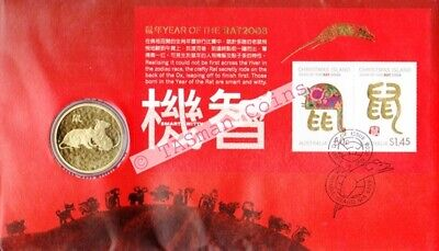Australia / Christmas Island - 2008 - Lunar New Year - Year of the RAT PNC/FDC