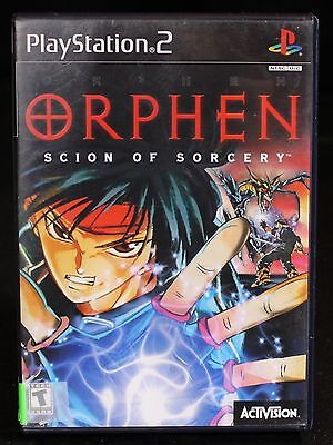 PS2 Orphen: Scion of Sorcery Complete Sony PlayStation 2 2000 Free US Shipping