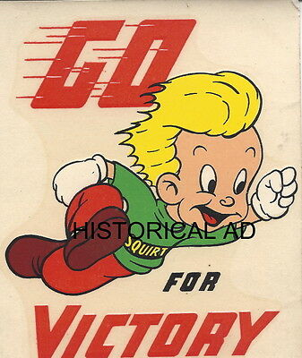 Squirt Boy Football Victory Picture Vintage 1944 Lemon Lime Soda Cola Chicago