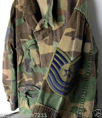 Vintage U.S. Air Force Fatigue Camo Jacket Medium Short Height 6'3-6'7 Military