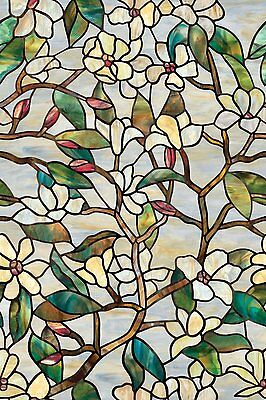 Artscape 01-0142 24-Inch by 36-Inch Summer Magnolia Window Film , New, Free Shi