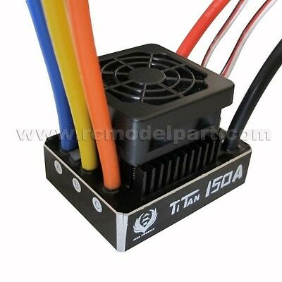 TiTan 150A Waterproof Brushless Speed Controller ESC for 1/8 1/5 RC Car Buggy