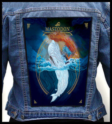MASTODON - Leviathan  --- Giant Backpatch Back Patch / Baroness Kylesa Red Fang