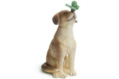 Miniature Dollhouse FAIRY GARDEN - Dog With Butterfly - Accessories