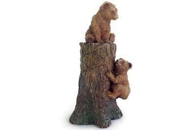 Miniature Dollhouse FAIRY GARDEN - Climbing Bear Cubs - Accessories