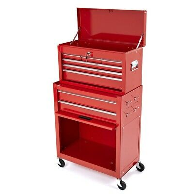 New Mechanics Heavy Duty Tool Box Chest And Roller Cabinet Red
