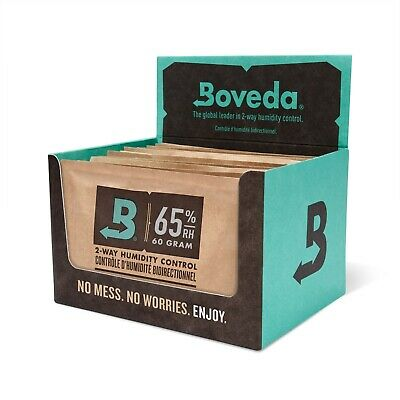 Boveda 65% RH 2-Way Humidity Control - Large 60 gram - Retail Carton of 12