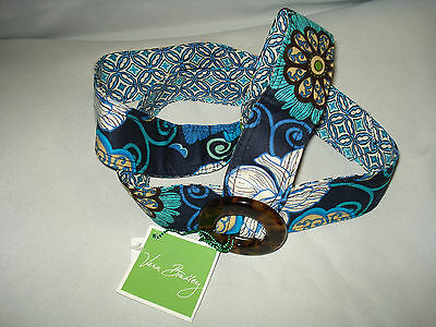 VERA BRADLEY *MOD FLORAL BLUE* REVERSIBLE BELT W/ BUCKLE AUTH NWTS RETIRED RARE