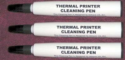 JUMBO THERMAL POS & PRINT HEAD CLEANING PEN 3 PACK Free USPS US MADE!
