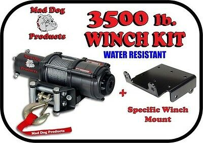 3500lb Mad Dog Winch Mount Combo Can-AM 2012-2017 Renegade 500 570 800 850 1000